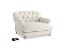 Truffle Love seat in Oat brushed cotton
