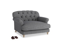 Truffle Love seat in Strong grey clever woolly fabric