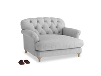 Truffle Love seat in Mist cotton mix