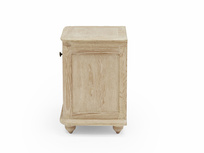 Amity bleached oak wood bedside table