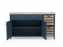 Cidre wooden sideboard in Inky Blue