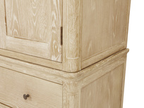 Amory wardrobe in bleached oak wood