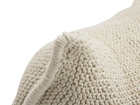 Chocs bean bag in Cream knitted wool