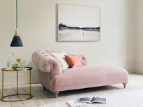 Fats chesterfield style chaise longue