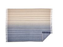 Ripple blue and cream stripe throw
