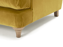 Truffle love seat button back