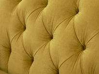 Truffle love seat button back detail