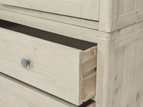 Swash tongue and groove reclaimed wood wardrobe