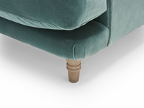 Slowcoach British made upholstered love seat
