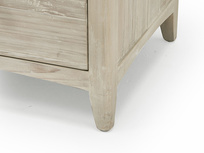 Driftwood chest of drawers in beached timber