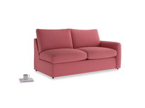 Chatnap Sofa Bed in Raspberry brushed cotton with a right arm