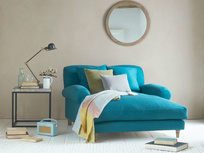 Extra deep and comfy British made Crumpet love seat chaise
