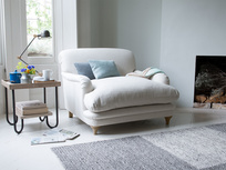 Pudding handmade love seat and snuggler sofa