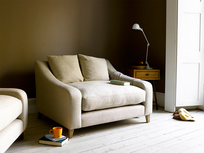 British made stylish Oscar snuggler and love seat