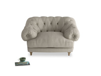 Buttoned back Bagsie chesterfield love seat and snugler