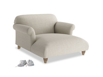 Contemporary fabric Soufflé love seat chaise