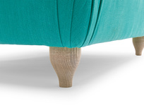 Homebody classic upholstered handmade footstool