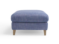 Upholstered fabric large Legsie footstool coffee table