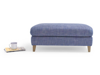 Large fabric upholstered Legsie footstool coffee table