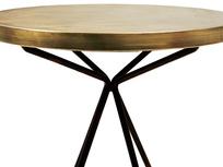 Quid round bronze side table