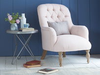 High and button back Flump occasional armchair