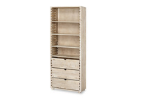 Tall Chockablock wooden storage shelves