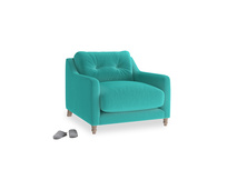Slim Jim Armchair in Fiji Clever Velvet