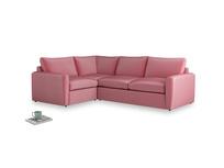 Large left hand Corner Chatnap modular corner sofa bed in Blushed pink vintage velvet and both Arms