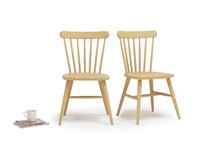 Pair of Natterbox Kitchen In Good Yellow kitchen chairs