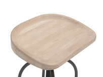 Tractor wooden kitchen bar stool