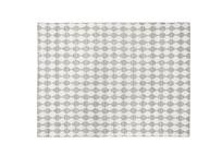 Waves patterned floor rug in Grey