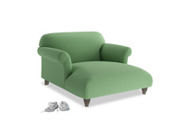 Love Seat Chaise Soufflé Love Seat Chaise in Clean green Brushed Cotton