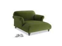 Love Seat Chaise Soufflé Love Seat Chaise in Good green Clever Deep Velvet