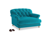 Truffle Love seat in Pacific Clever Velvet