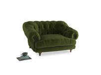 Bagsie Love Seat in Good green Clever Deep Velvet