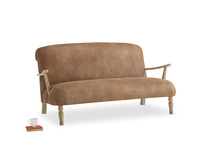 Medium Brew Sofa in Walnut beaten leather