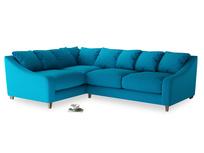 Large Left Hand Oscar Corner Sofa  in Bermuda Brushed Cotton