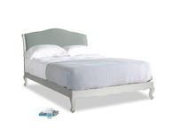 Kingsize Coco Bed in Scuffed Grey in Sea fog Clever Woolly Fabric