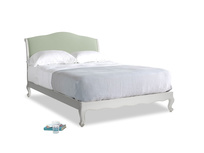 Kingsize Coco Bed in Scuffed Grey in Powder green Clever Linen