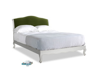 Kingsize Coco Bed in Scuffed Grey in Good green Clever Deep Velvet