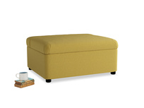 Single Bed in a Bun in Maize yellow Brushed Cotton