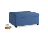 Single Bed in a Bun in English blue Brushed Cotton