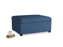 Single Bed in a Bun in True blue Clever Linen