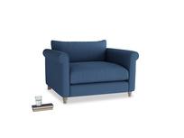 Love Seat Weekender Love seat in True blue Clever Linen