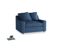 Love Seat Sofa Bed Cloud love seat sofa bed in True blue Clever Linen
