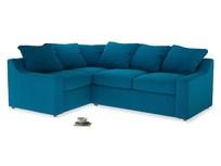 Large left hand Cloud Corner Sofa Bed in Bermuda Brushed Cotton