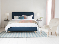 Ruffle contemporary bed