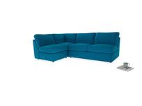 Large left hand Chatnap modular corner storage sofa in Bermuda Brushed Cotton