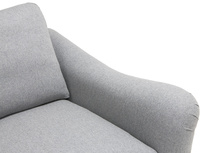 Bumpster love seat with comfy curved arms