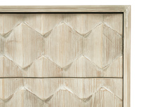 Orinoco reclaimed wood patterned chest of drawers